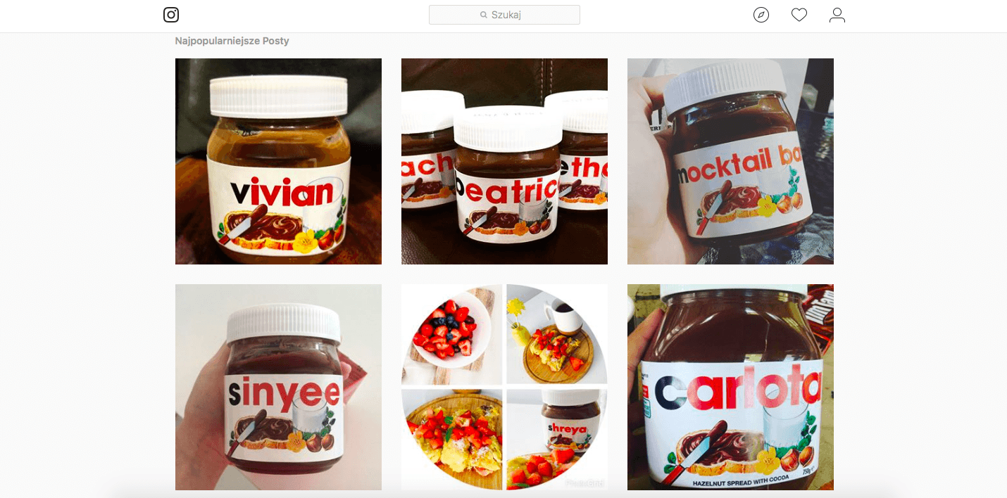 Nutella UGC Content Marketing Wiedza